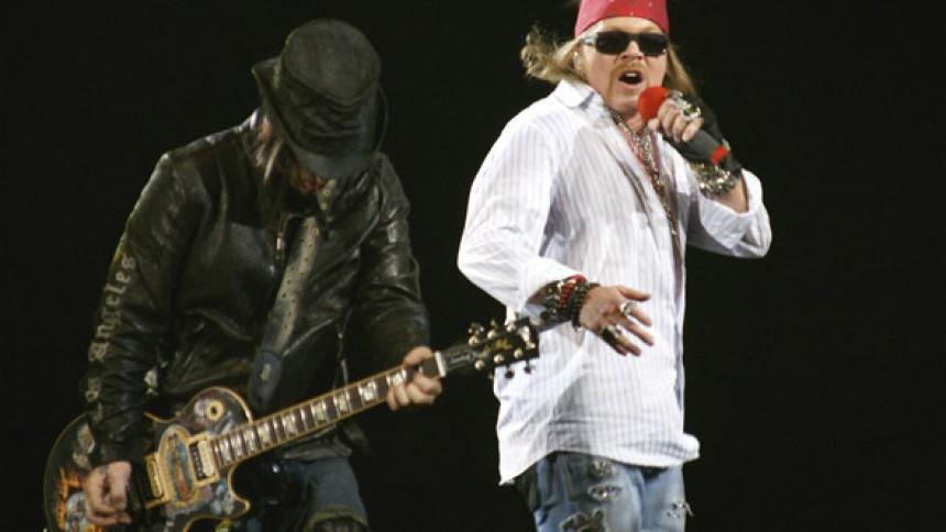 Guns N' Roses till England
