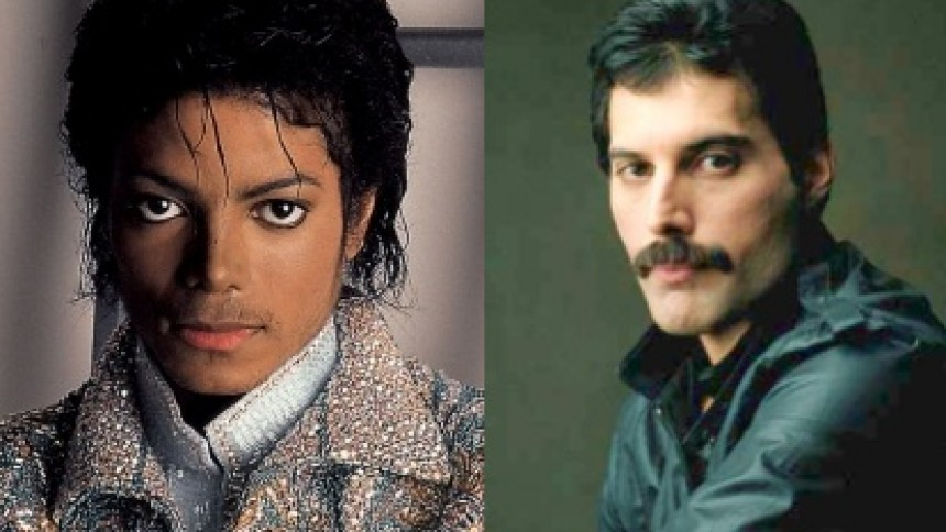 Freddie Mercury och Michael Jackson i duett