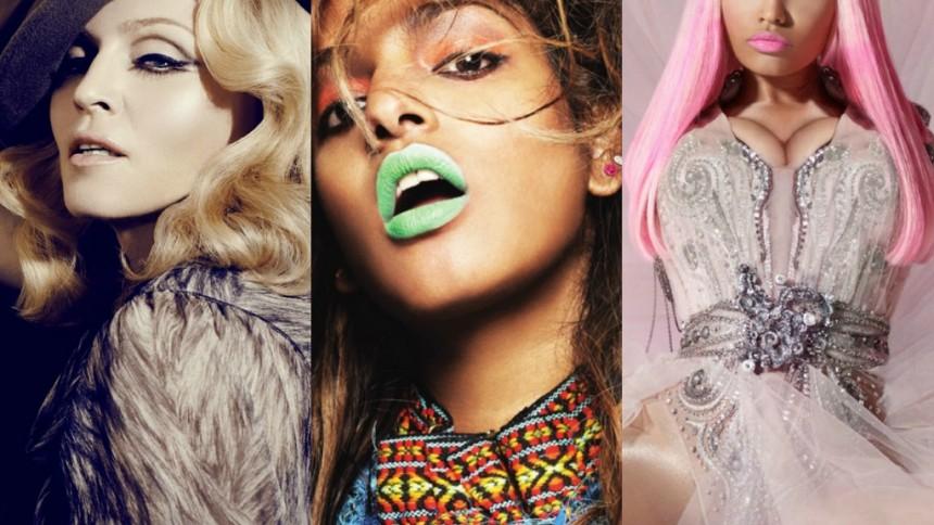 Madonna, M.I.A. och Nicki Minaj samarbetar