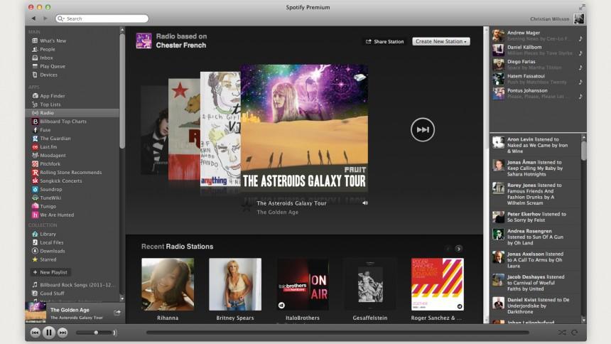 Spotify-radion uppdateras