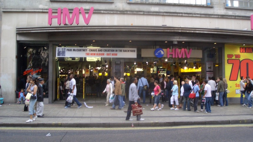 Skivkedjan HMV i kris