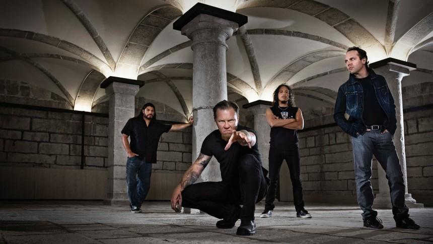 Metallica på väg in i studion