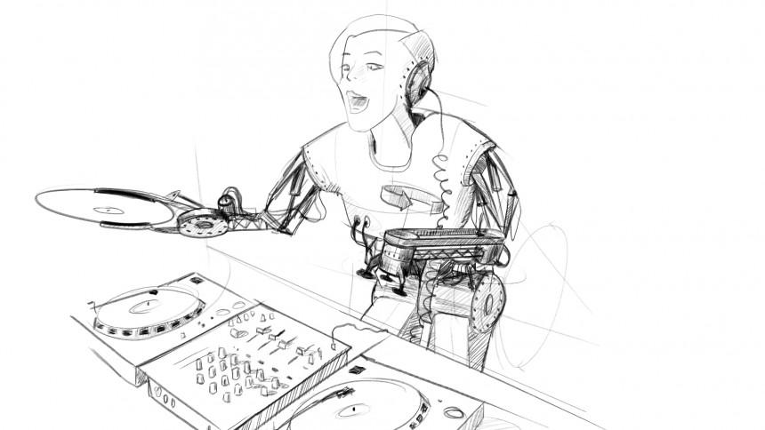 En Robyn-robot tar form