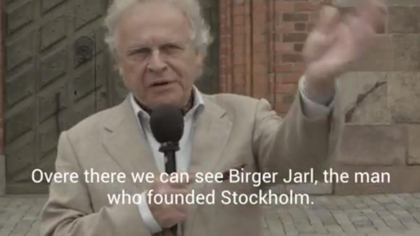 Se Herman Lindqvist promota festival – med fusklapp