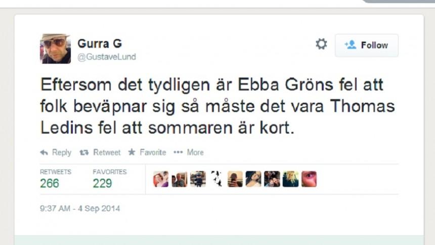 Här hånas politikerns Ebba Grön-utspel