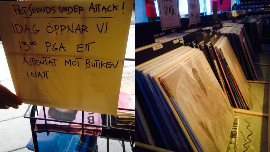 Skivaffären Pet Sounds vandaliserad