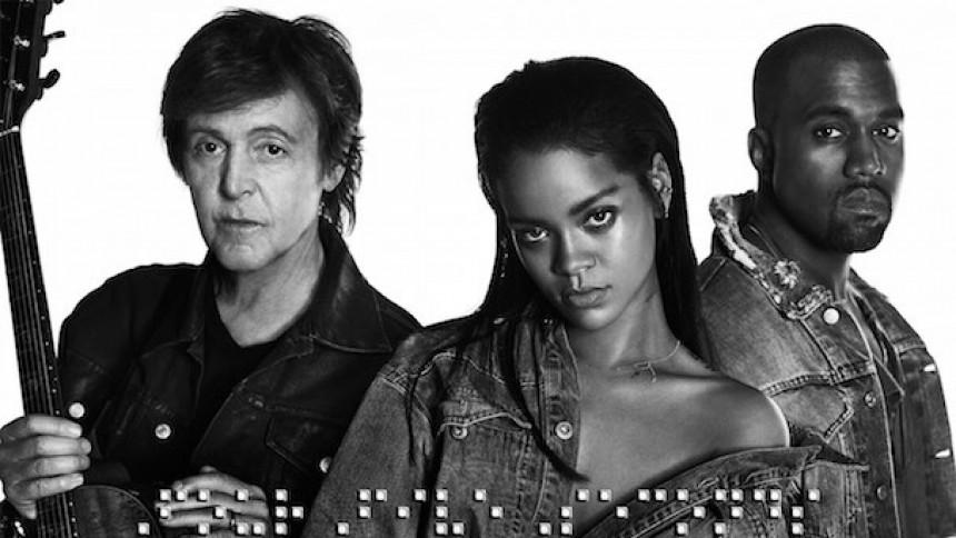 Rihanna, McCartney och Kanye släpper singel