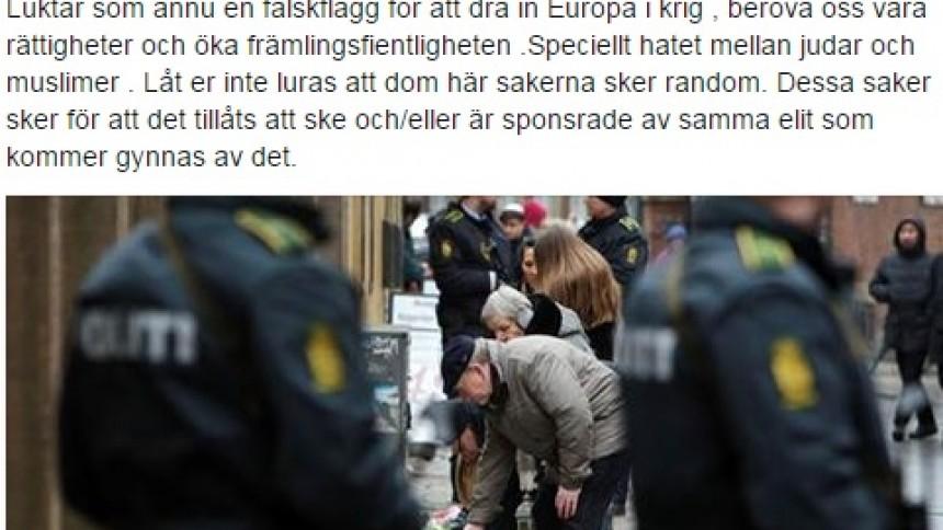 Svensk rappare om attentaten i Köpenhamn: ''sponsrade av elit''