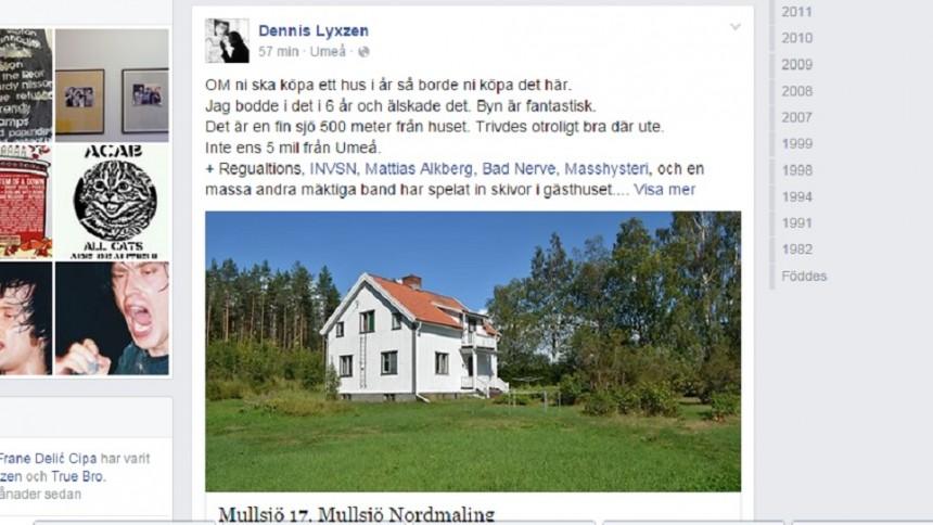 Dennis Lyxzéns hus till salu