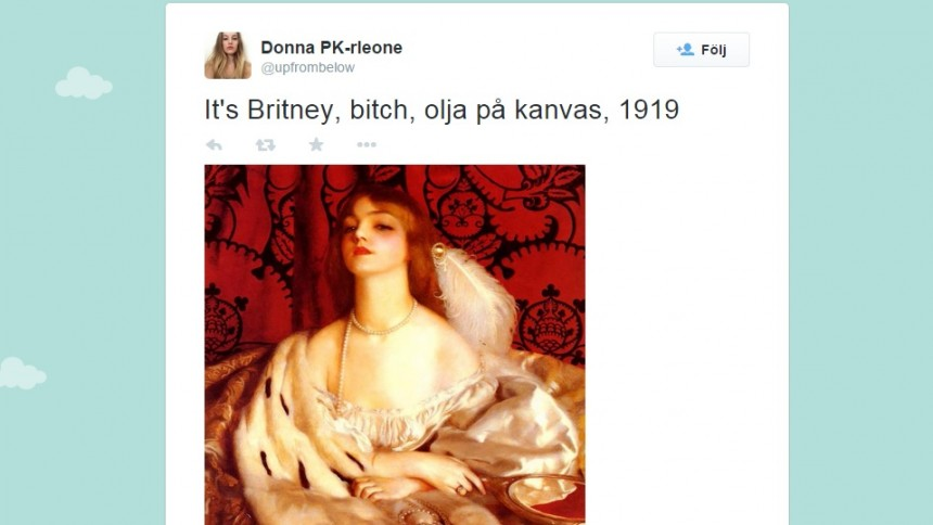 Britney Spears på oljemålning – från 1919