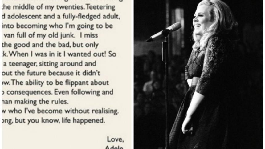 Läs Adeles egna ord om det kommande albumet