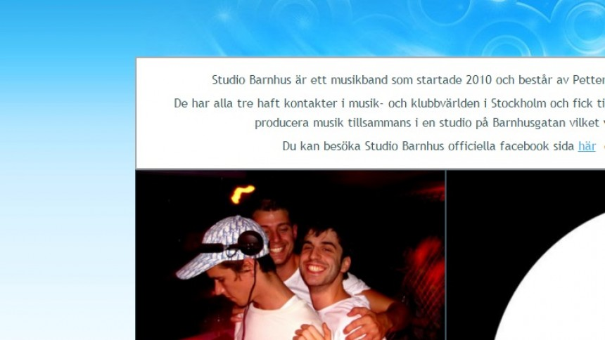 Svenskt skivbolags hemsida ''kapad''