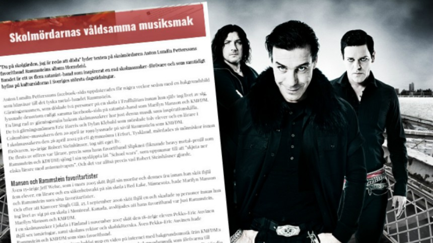 ''Rammstein är ett satanistband'' – här är krönikan som hånas på nätet