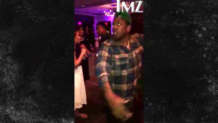 Här kraschar Kendrick Lamar ett bröllop
