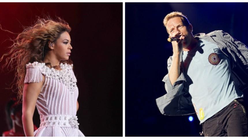 Hör när Beyoncé sjunger på Coldplays nya singel