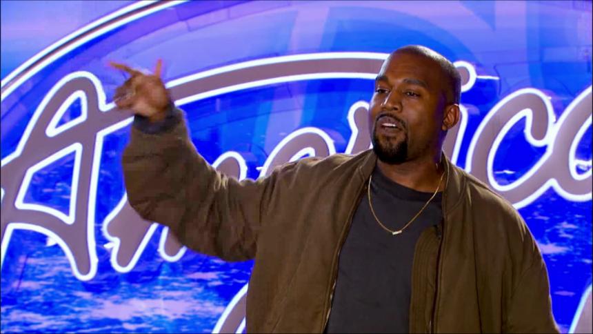 Se Kanye West göra audition i American Idol