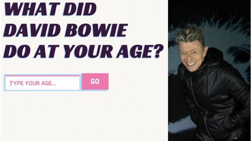 Se vad David Bowie gjorde när han var i din ålder