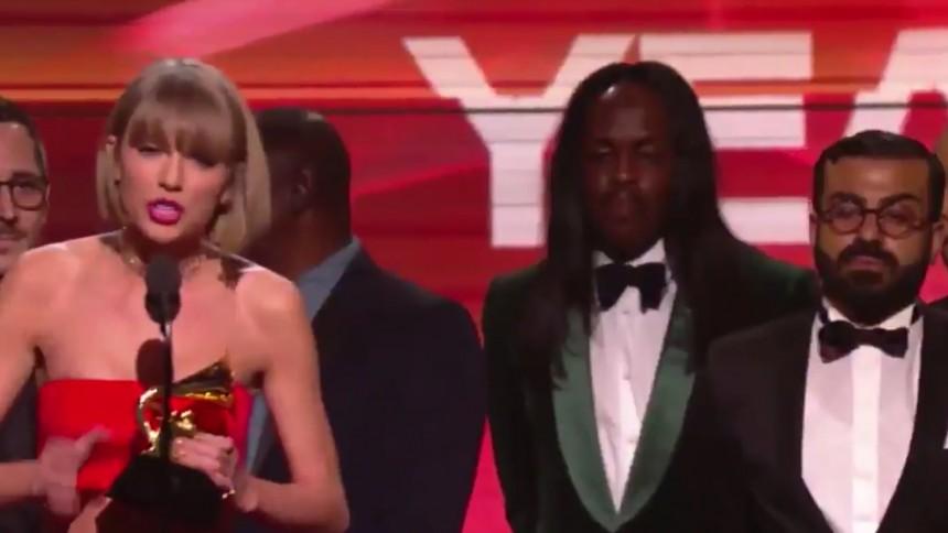 Taylor Swift dissade Kanye West på Grammy