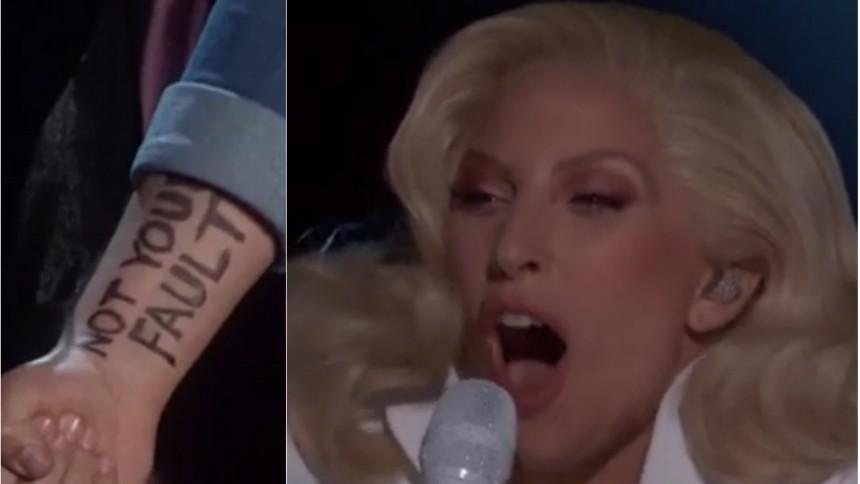 Starkt klipp: Lady Gaga uppmärksammar våldtäktsoffer