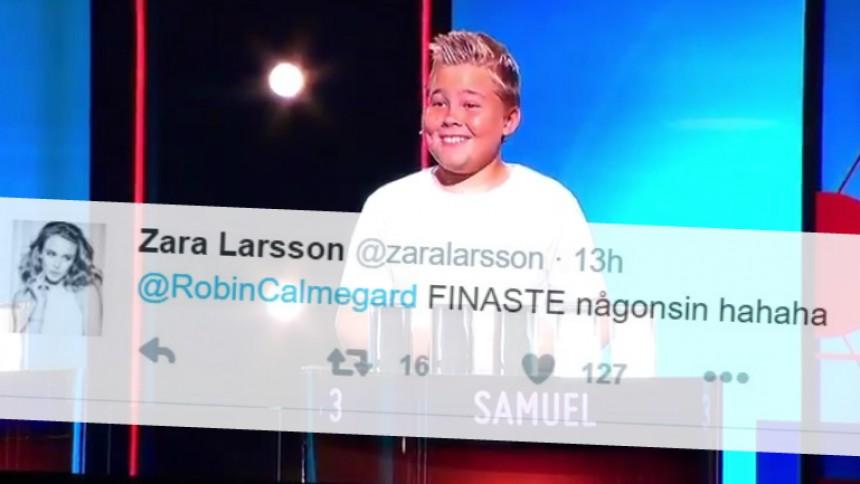 Pojkens felgissning får Zara Larsson att smälta