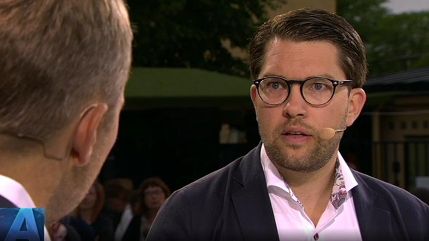 Se Jimmie Åkesson pressas efter uttalande om sexbrott på festivaler