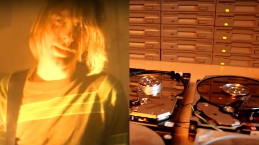 Se Nirvana-klassiker tolkas med hårddiskar och diskettstationer