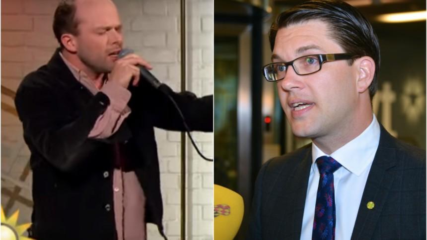 Artistens Jimmie Åkesson-diss väcker reaktioner