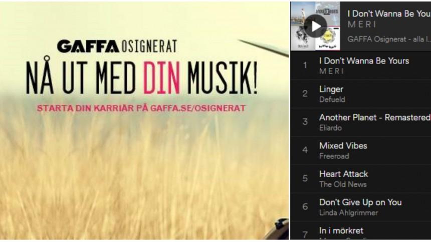 GAFFA Osignerat – här är alla låtarna
