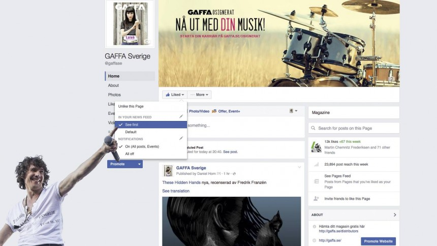 Efter Facebooks förändringar – så får du GAFFA i ditt flöde
