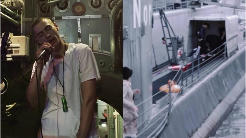 Se Gustaf Noréns märkliga gig i en U-båt