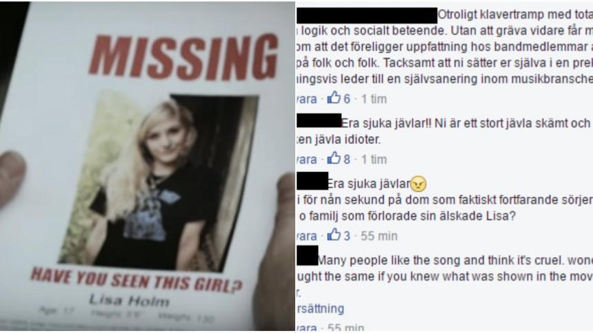 Bandets video om Lisa Holm-mordet ger starka reaktioner