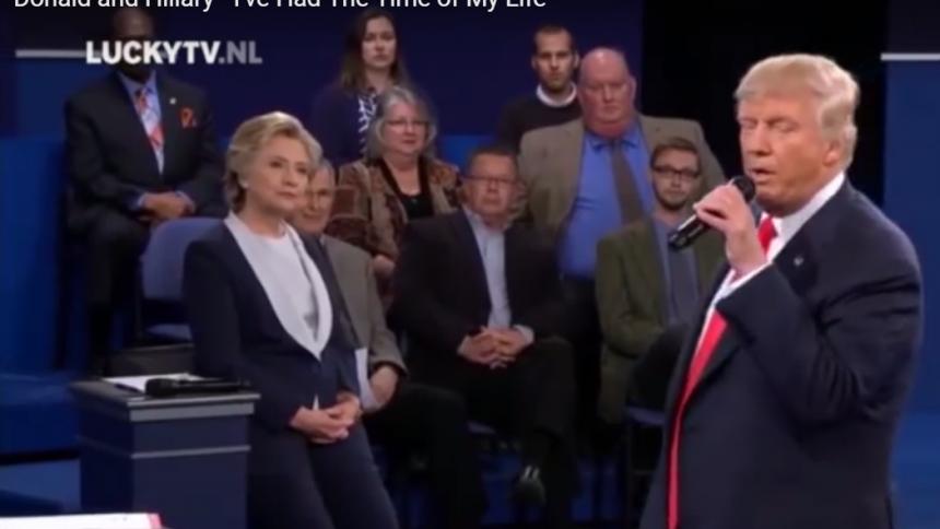 Se Trump och Clinton i klassisk Dirty Dancing-duett
