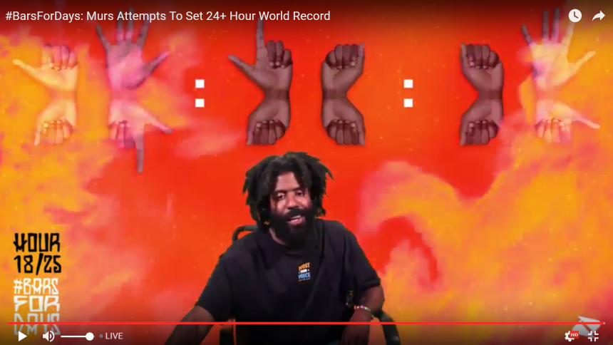 Se världsrekord i världens längsta rap – live just nu