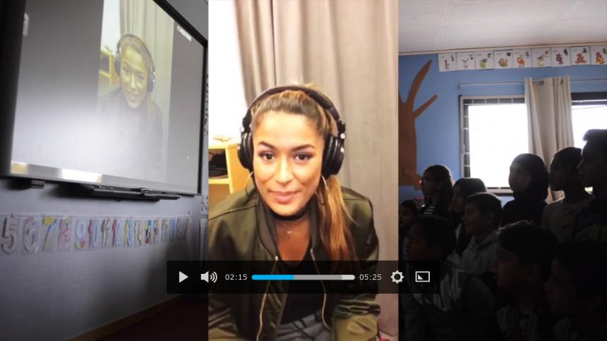 Svensk hiphop-stjärna överraskar elever med en personlig hälsning
