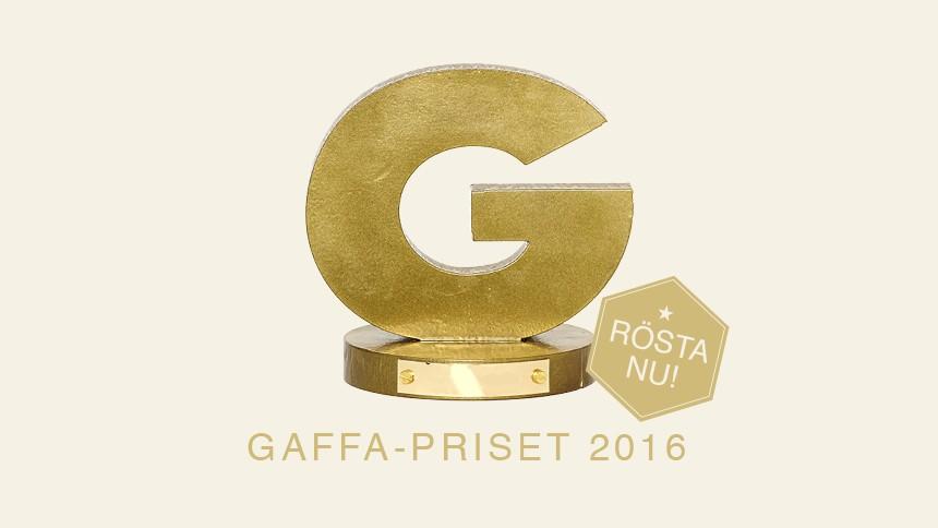 GAFFA-Priset 2016 – rösta på dina favoriter här!