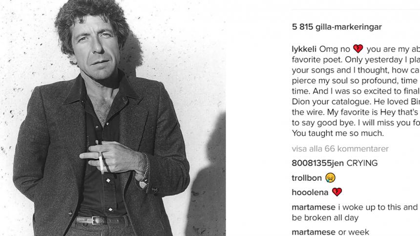 Här är våra svenska stjärnors sista hälsningar till Leonard Cohen