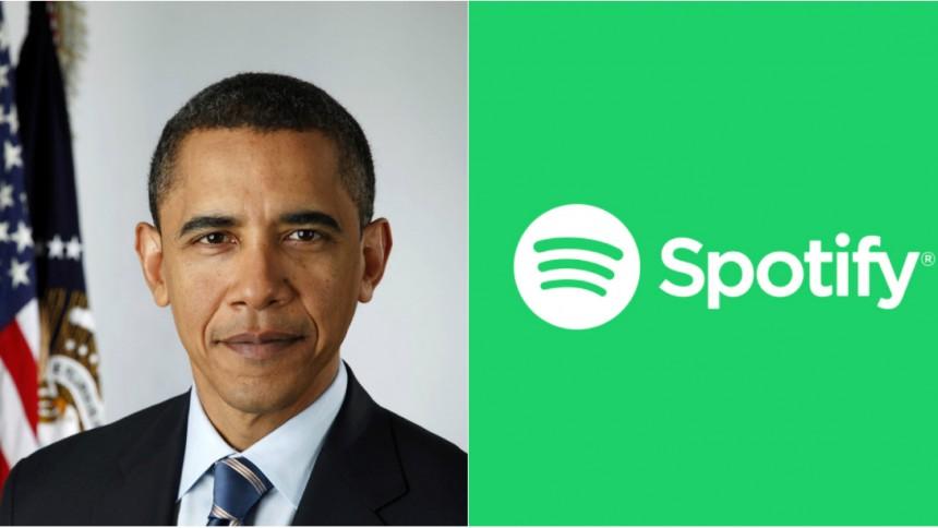 Obama startar samarbete med Spotify
