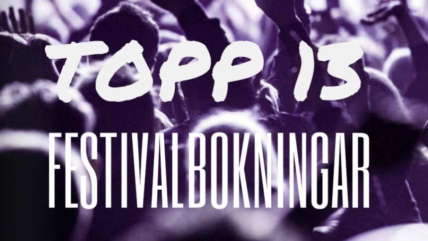 Sveriges bästa festivalbokningar 2017 – plats 5 till 1