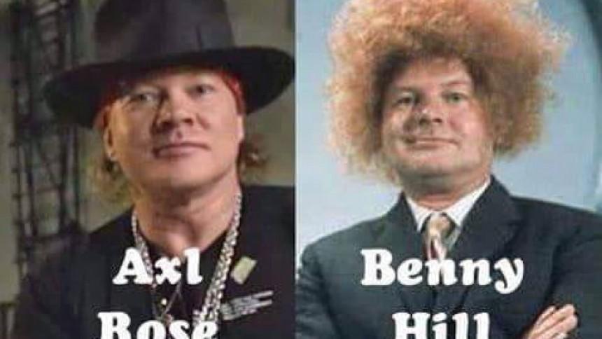 Någon har mixat Guns N' Roses med Benny Hill och resultatet är ... speciellt