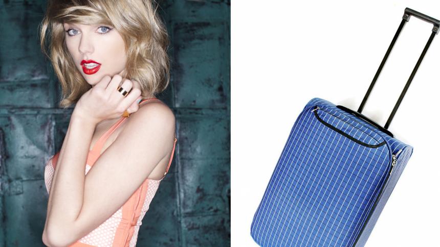 Taylor Swift gömmer sig ibland i en resväska