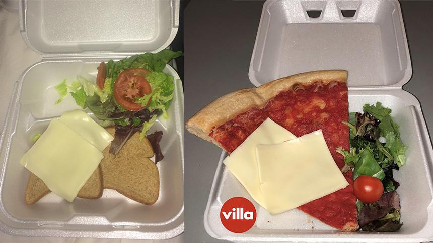 Pizzakedja driver med välkänd festival-meme