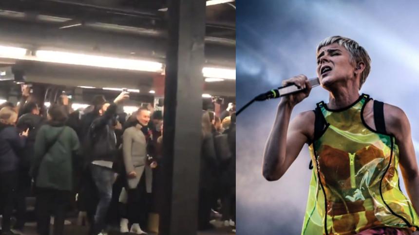 Robyn-fansens dansfest i tunnelbanan gör viral succé