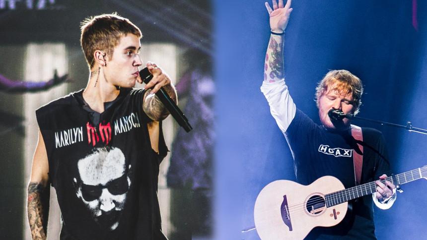 Ed Sheerans och Justin Biebers ordlek – nytt samarbete på g