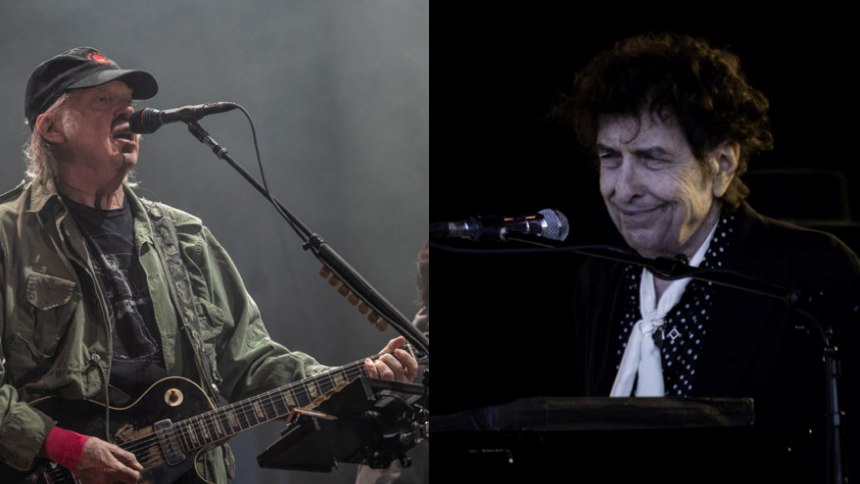 Se Neil Young och Bob Dylan uppträda tillsammans för första gången på 25 år
