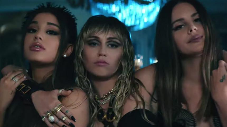 Ariana Grande, Lana Del Rey och Miley Cyrus i samarbete – se resultatet