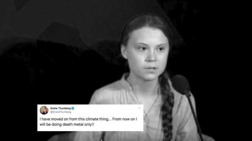"""Greta Thunberg om den virala videon: """"Från och med nu kommer jag bara göra death metal"""""""
