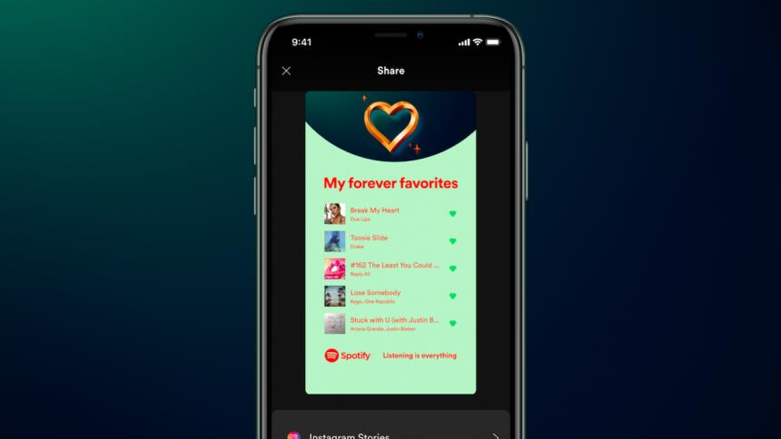 Ny Spotify-funktion: enklare att dela dina absoluta favoriter