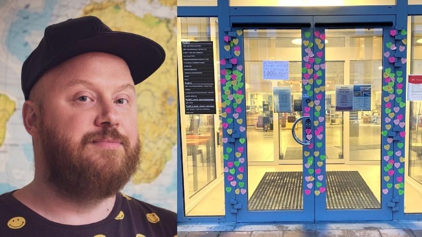 Artistens projekt utsatt för nazistiskt attentat – resulterade i kärleksprotest
