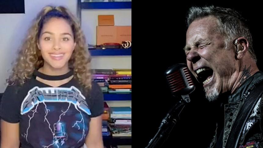 Kvinnan svarar med storartad replik – när hon ifrågasätts som Metallica-fan