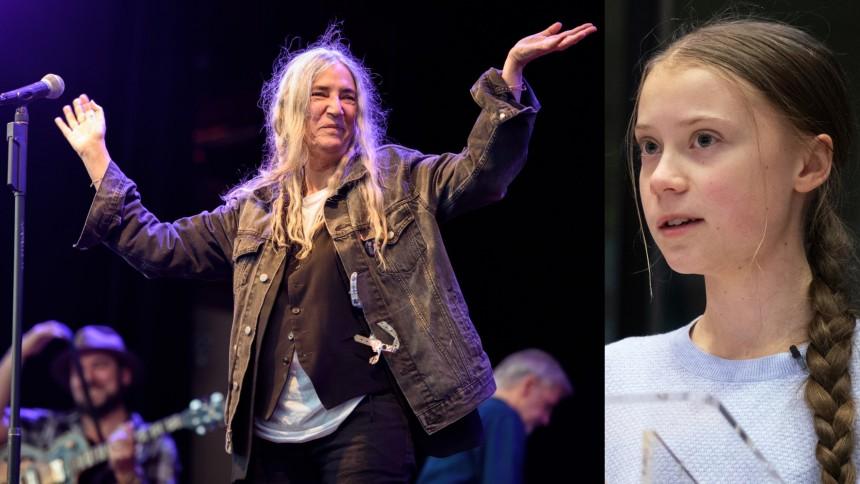 Patti Smith hyllar Greta Thunberg med offentligt konstverk